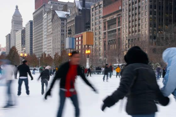 Patinando en Chicago